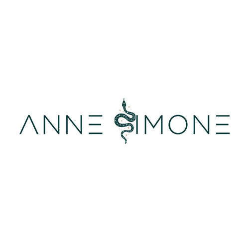 Writer Anne Simone horizontal logo snake